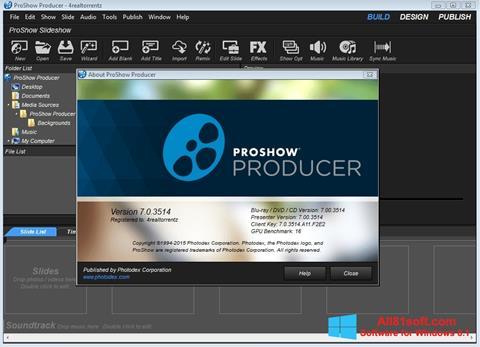 スクリーンショット ProShow Producer Windows 8.1版