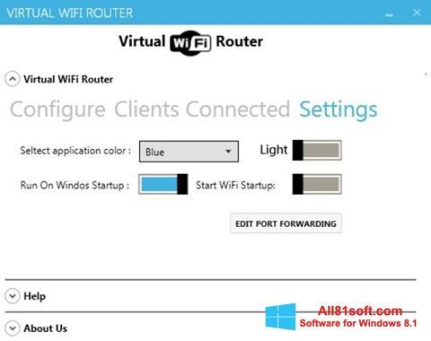 スクリーンショット Virtual WiFi Router Windows 8.1版