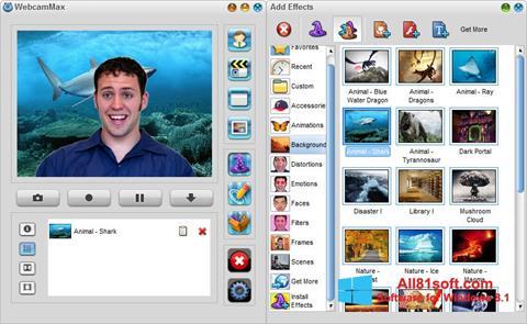 スクリーンショット WebcamMax Windows 8.1版