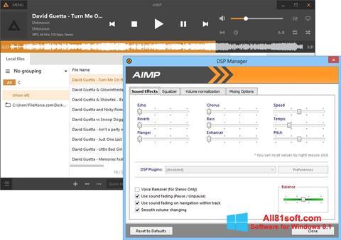 スクリーンショット AIMP Windows 8.1版