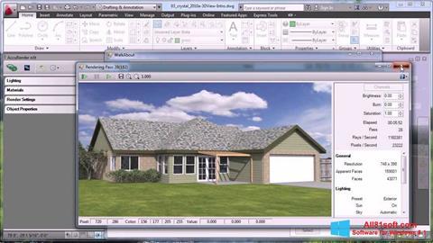 スクリーンショット AutoCAD Windows 8.1版