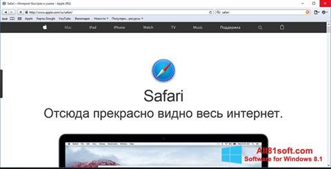 スクリーンショット Safari Windows 8.1版