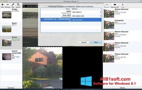 スクリーンショット IP Camera Viewer Windows 8.1版