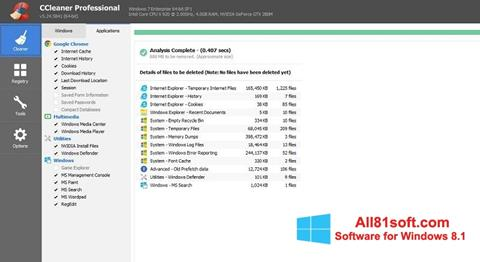 スクリーンショット CCleaner Professional Plus Windows 8.1版