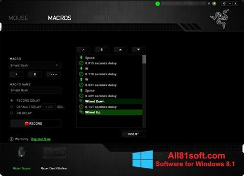 スクリーンショット Razer Synapse Windows 8.1版