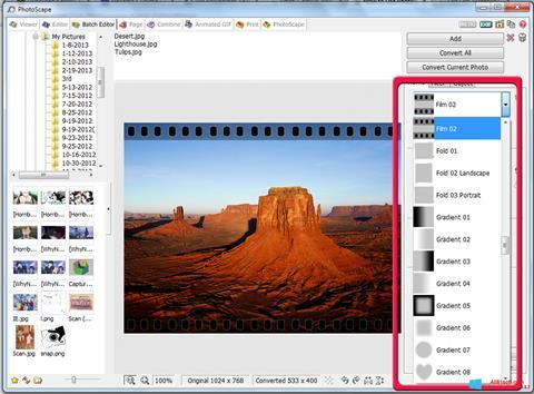 スクリーンショット PhotoScape Windows 8.1版