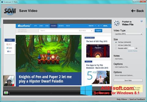 スクリーンショット Screencast-O-Matic Windows 8.1版