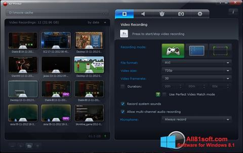 スクリーンショット Action! Windows 8.1版