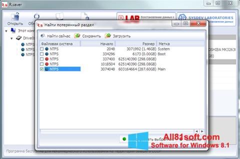 スクリーンショット R.saver Windows 8.1版