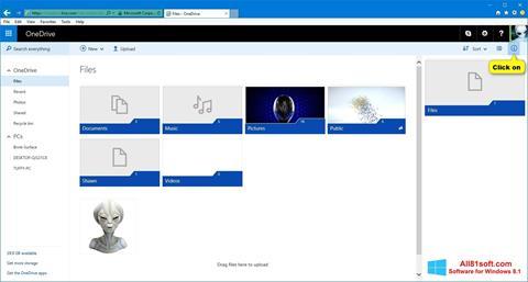 スクリーンショット OneDrive Windows 8.1版