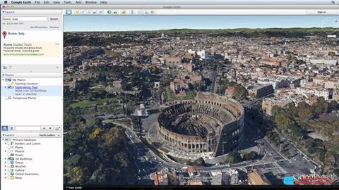 スクリーンショット Google Earth Windows 8.1版