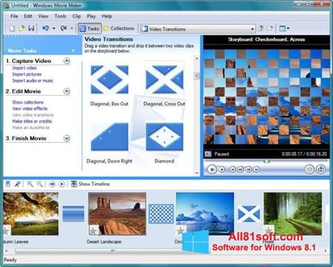 スクリーンショット Windows Movie Maker Windows 8.1版
