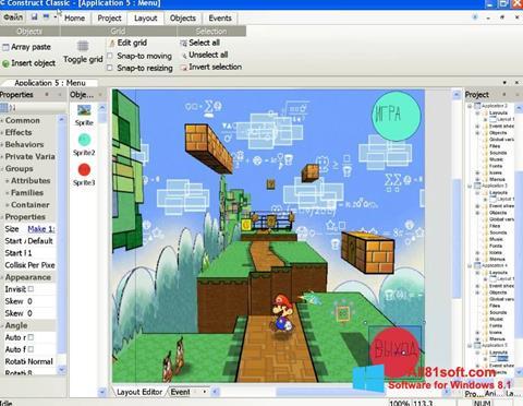 スクリーンショット Construct Classic Windows 8.1版