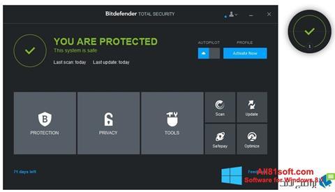 スクリーンショット Bitdefender Windows 8.1版