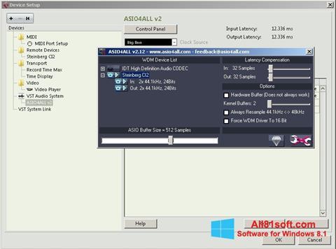 スクリーンショット ASIO4ALL Windows 8.1版