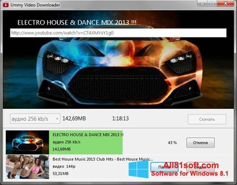 スクリーンショット Ummy Video Downloader Windows 8.1版