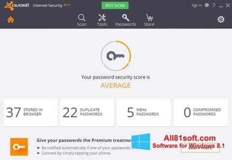 スクリーンショット Avast Internet Security Windows 8.1版