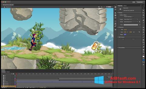 スクリーンショット Adobe Flash Professional Windows 8.1版