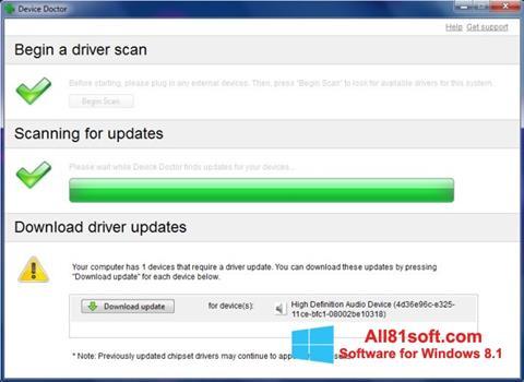 スクリーンショット Device Doctor Windows 8.1版