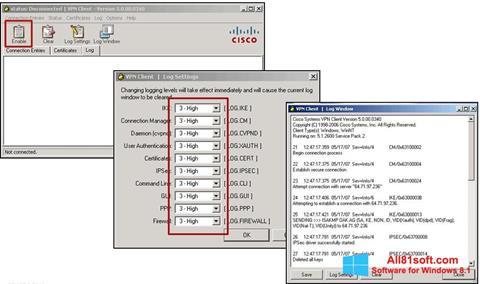 スクリーンショット Cisco VPN Client Windows 8.1版