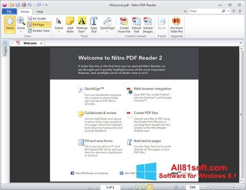 スクリーンショット Nitro PDF Reader Windows 8.1版