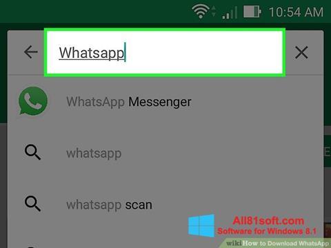 スクリーンショット WhatsApp Windows 8.1版