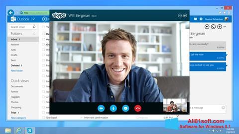 スクリーンショット Skype Windows 8.1版